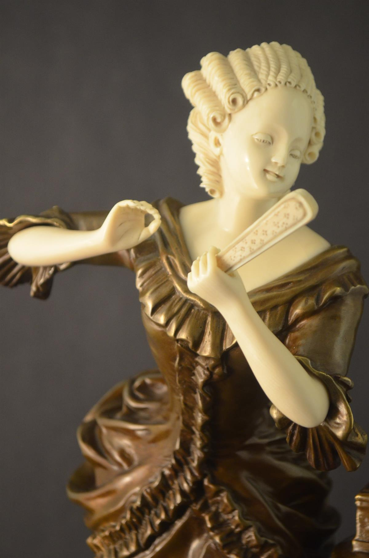 IVORY AND BRONZE SCULPTURES Spain Decor