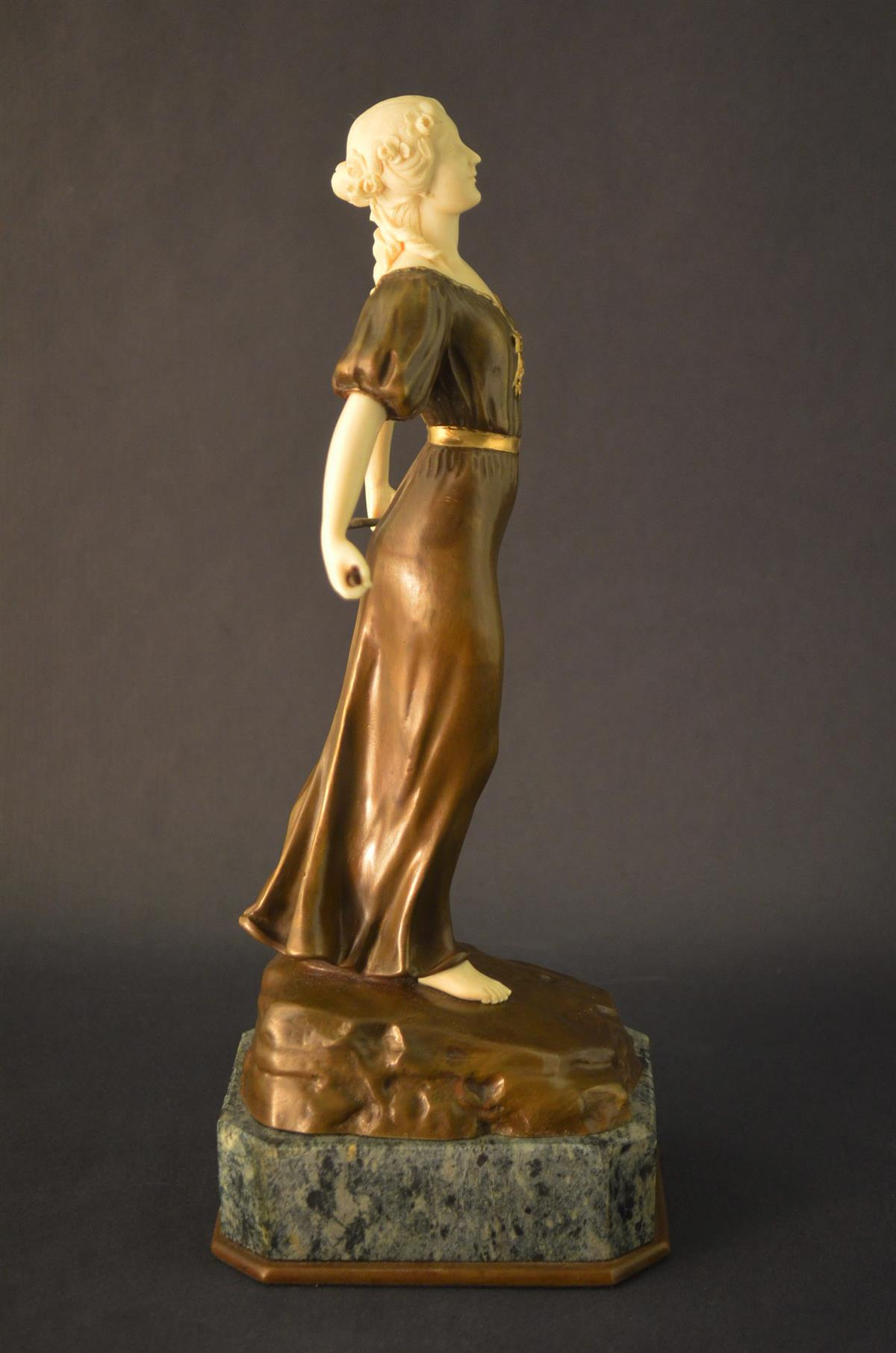 Luxury gifts Summer sculpture, bronze and ivory